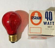 LAMPADINA OSRAM ROSSO 40 WATT E27 GOCCIA TRASPARENTE INCANDESCENZA LUCE ROSSA