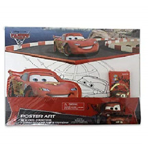 CARS 2 POSTER ART SET WITH CRAYONS STICKER BRAND NEW SEALED