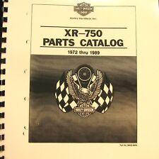 1972-89 Harley-Davidson  XR750  Parts Catalog   Part no # 99442-89