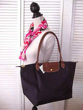 LONGCHAMP PARIS Le Pliage Large Tote BILBERRY long handle Large bag NEW FRANCE