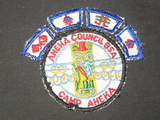 Camp Aheka Cut Edge Pocket Patch and Segments, Aheka Council     cpp