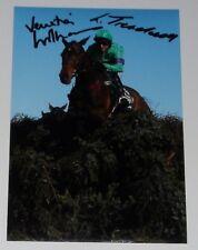 Liam Treadwell & Venetia Williams mano firmado 12X8 Foto Grand National Mon Mome