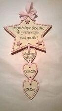 Handmade Wooden TWINKLE TWINKLE STAR plaque - keepsake, gift