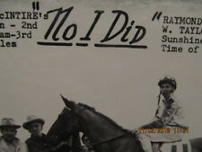 1958 Horse Racing Winners Circle No I Did Sunshine Park Jockey Raymond Landing