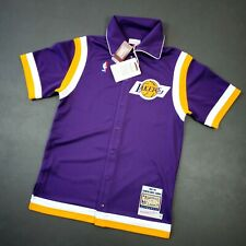 100% Authentic Kareem Abdul Jabbar Mitchell Ness 88 Lakers Shooting Shirt M 40