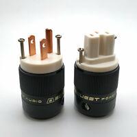 Red Copper US Connector HiFi Audio Amplifier SE-RP(W)&RC(W) Power Sonarquest