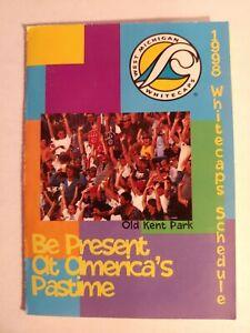 1998 West Michigan Whitecaps Pocket Schedule A Affiliate Detroit Tigers