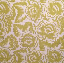 DESIGNERS GUILD Rosario printed chartreuse linen cotton floral Remnant New