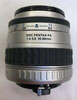 Pentax SMC PENTAX-FA 35-80mm 1:4-5.6 Zoom auto focus Lens for SLR camera