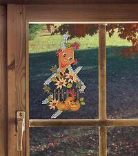 FENSTERBILD  für den Herbst Herbstspaß ECHTE PLAUENER SPITZE inkl. Saughaken