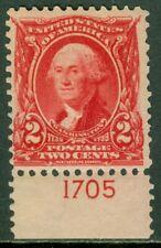EDW1949SELL : USA 1903 Scott #301 PL# single Light natural gum bend MNH Cat $37+