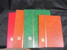 4 LIGHTHOUSE STAMP STOCK BOOKS. 3 LARGE / 1 SMALL. LOOK!