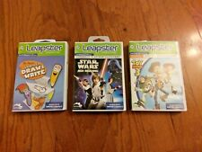 LOT OF THREE (3) LEAPSTER / LEAPSTER 2 GAMES – STAR WARS / TOY STORY (4-8YRS)