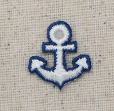 Small/Mini Anchor Blue/White - Nautical - Iron on Applique/Embroidered Patch