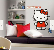 """HELLO KITTY  wall stickers MURAL 11 decals room decor 28"""" tall cat Sanrio"""