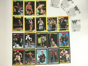 WWF Gold Series Cards X 18 Cards Excellent Condition Ultimate Warrior Macho Man