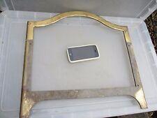 """Antique Brass Frame Fire Front? Car Grate? Frame Guard Vintage Old 17.5""""W / 17""""H"""