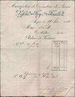 """ANGERS (49) USINE de BONNETERIE de LAINES """"LAFOND , FOY & FOUILLET"""" en 1899"""