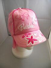 BNWT Girls Pretty Pink/White Butterfly Barbie Legionnaire Sun Safe Cap Size 51cm