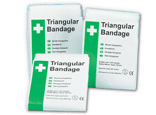 "2 NEW TRIANGULAR BANDAGES ARM SLING 36""x36""x51"" SEALED"
