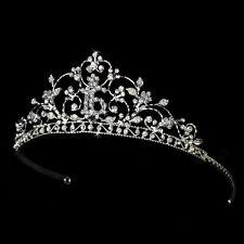 Shimmering Sweet 16 Rhinestone Princess Tiara Headpiece (Silver or Pink)