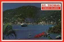 Cruise Ship in Charlotte Amalie Harbor, St. Thomas, US Virgin Islands - Postcard