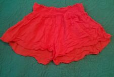 London Jeans Beach Sexy Gauze Shorts Cover Up XS Low Rise Salmon Red 2 X Small