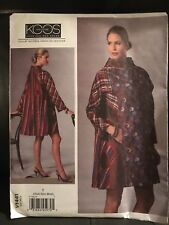 Vogue 1441 V1441, Koos Couture Appliqued Coat, WEARABLE ART, Sz Y (Xsm-Sml-Med)