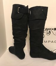 NEW Rampage Benedetto Solid Black Suede Over Knee Boots size 5.5 M