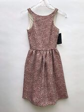 Zara Jacquard Skater Dress Size Large Ref 2161 495