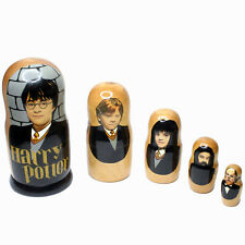 Harry Potter 5 Wooden Russian Nesting Dolls Executive Adult or Child Gift
