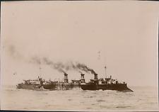 France, Brest, le Port, Navire de guerre Français le d'Assas  Vintage citra