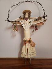 HERB DOLL Country Fabric Farmhouse Folk Art Hanging
