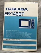 Toshiba Microwave Oven ER-143BT Owner's Guide Book 1984