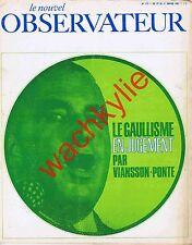 Le nouvel observateur 115 du 25/01/1967 Viansson-Ponté Lévi-Strauss Kateb Yacine
