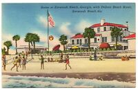 Savannah Beach Georgia Postcard DeSoto Beach Hotel Fun On The Beach #76833