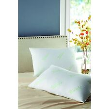 "Set of 2 Bamboo-Polyfill Pillows Super Standard Size 20"" x 28"" Hypoallergenic"