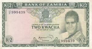 Zambia 2 Kwacha, banknote !!!