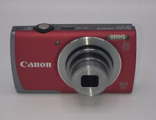 Red Canon PowerShot A3500 IS 16.0MP 5x Zoom Digital WIFI Camera W/Charger, Case