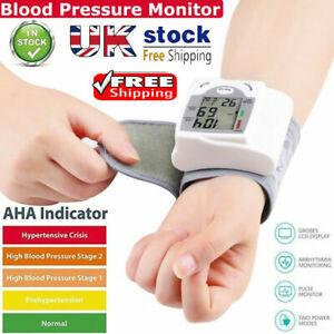 Digital Wrist Blood Pressure Monitor Heart Beat Rate Pulse BP Measure Machine UK