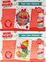 Set of 2 Num Noms Craft Kits - Make Your Own Pom Pom Art Pictures