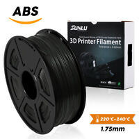 SUNLU ABS Filament for 3D Printer 1.75mm 1KG/2.2LB Spool Black ABS No Bubbles