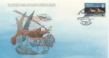 COLLECTION TIMBRES DE LA MER FONDATION COUSTEAU / FAUNE CRUSTACE 1979