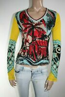 CUSTO' BARCELONA MAGLIA DONNA Tg. 2 WOMAN T-SHIRT CASUAL VINTAGE  A2633