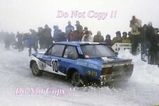 Walter Rohrl FIAT ITALIA FIAT 131 ABARTH Monte Carlo Rally 1980 Fotografia