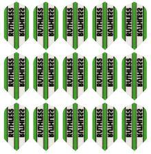 5 New Sets Ruthless Transparent Slim Dart Flights - 15 Flights - Green