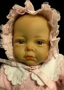 """Blonde Brown Eyes Reborn Baby Girl, by Elly Knoops ADAG 06 Art Doll 20"""" *flaw*"""