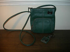 GENUINE TIGNANELLO SINCE 1989 WOMEN'S HANDBAG CROSS BODY SHOULDER GREEN LEATHER