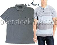 NEW MEN'S NAUTICA 100% TEXTURED WOVEN COTTON CLASSIC POLO SHIRT! VARIETY STYLES