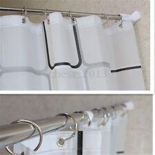 70-120CM STAINLESS SHOWER CURTAIN POLE ROD ADJUSTABLE TENSION DOOR ROOM BATHROOM